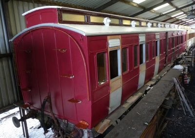 Autocoach in Embsay Carriage Shed, February 2014 (Alan Chandler)