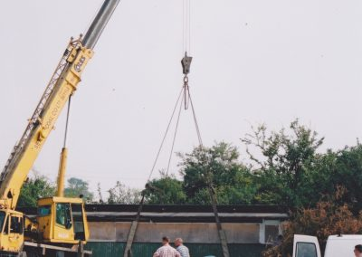 Removal from the field by crane
